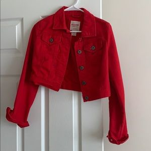 Mossimo Red Jean Jacket